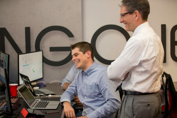 Nevada Congressman Joe Heck talks with Seth Waite at RevUnit