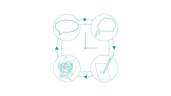 illustration of clock with tasks