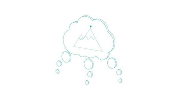 illustration of brain storm bubble