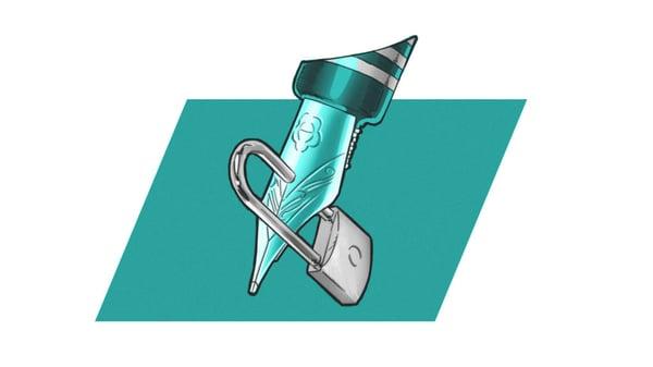locked pen